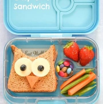 4 Fun and Easy Sandwich Ideas - Fun Food for Kids - perfect for school lunch boxes bento boxes and party food too - Cute Owl Sandwich Packed Lunch