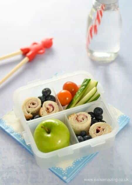 4 quick and easy sushi sandwich roll-ups for kids - fun school lunch box ideas and perfect for bento boxes too - Cream Cheese and Jam