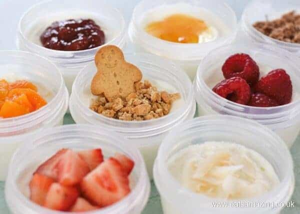 8 fun kid friendly yogurt toppings for kids - great for healthy breakfasts snacks and lunch boxes - Eats Amazing UK