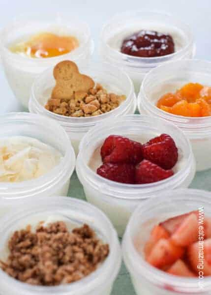 8 fun kid friendly yogurt toppings for kids - great for healthy breakfasts snacks and school lunch boxes - Eats Amazing UK