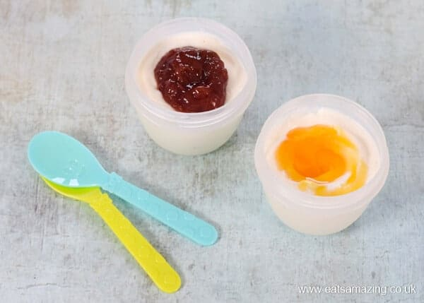 8 healthy yogurt toppings for kids - sugar free jam and honey - Eats Amazing UK