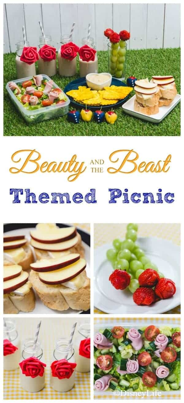 Beauty and the Beast Themed Picnic with 6 recipes - fun food for kids that is perfect for party food too