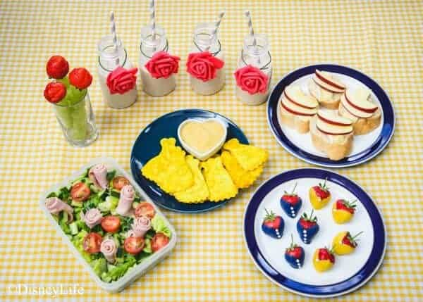 Beauty and the Beast Themed Picnic with 6 recipes - perfect for party food too - fun food for kids