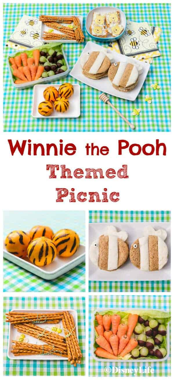 Cute Winnie The Pooh Themed Picnic Recipes with 5 fun food ideas for kids - perfect for summer picnics and party food