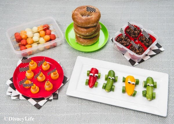 Disney Cars Picnic Recipes - healthy fun food for kids that makes great cars party food ideas too - Eats Amazing UK