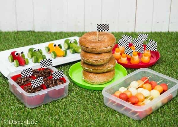 Disney Cars Picnic Recipes - healthy fun food for kids that makes perfect cars party food ideas too - Eats Amazing UK