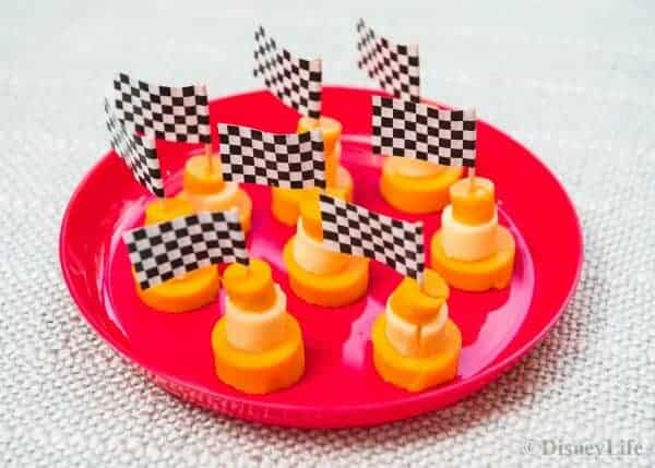 Disney Cars Themed Picnic Recipes - healthy fun food for kids that makes great party food too - Cheese Traffic Cones
