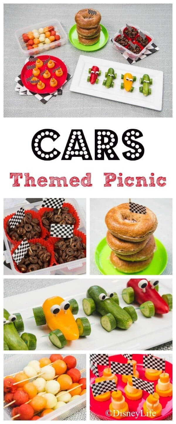 Disney Cars Themed Picnic Recipes - healthy fun food for kids that makes great party food too - Eats Amazing