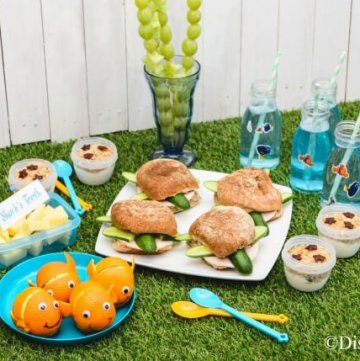 Finding Nemo themed picnic recipes with 6 fun food ideas for kids - perfect for Nemo party food too