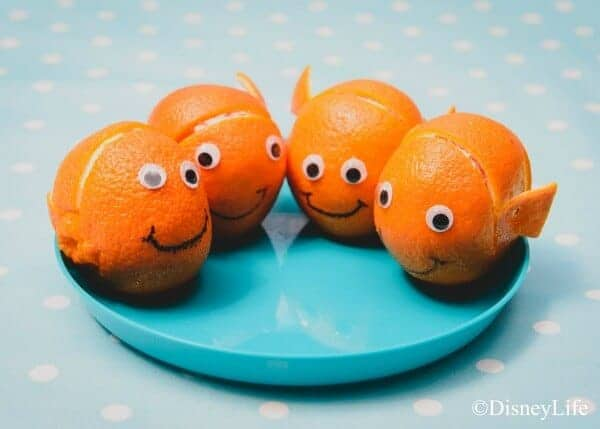 Finding Nemo themed picnic with 6 fun recipes - perfect for Nemo party food ideas - cute and easy Nemo satsumas