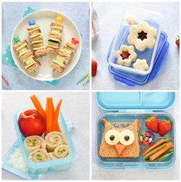 4 Fun and Easy Sandwich Ideas - Fun Food for Kids - perfect for school lunch boxes bento boxes and party food too - Eats Amazing UK