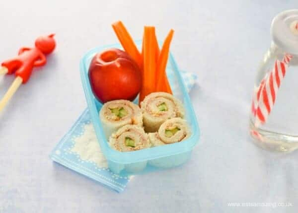 Healthy lunch box ideas - 4 quick and easy sushi sandwich roll ups for kids - perfect for bento boxes - Tuna and Cucumber