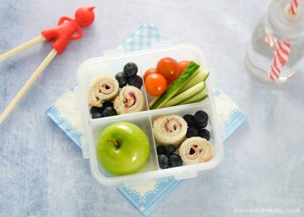 Healthy lunch box ideas - 4 quick and easy sushi sandwich roll ups for kids - perfect for bento boxes - vegetarian cream cheese and jam