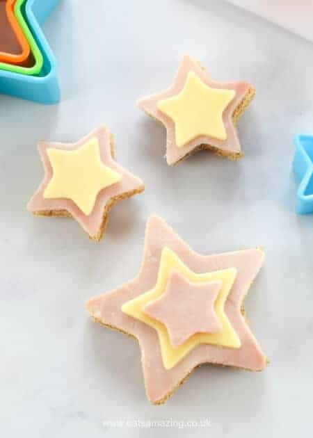 How to Make Cute and Easy Star Sandwiches - Fun Food for Kids - perfect for school lunch boxes bento boxes and party food too - Eats Amazing UK