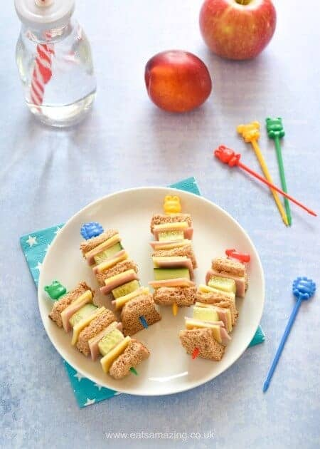 How to Make Easy Sandwich Kebabs - Fun Food for Kids - perfect for school lunch boxes bento boxes and party food too - Eats Amazing UK