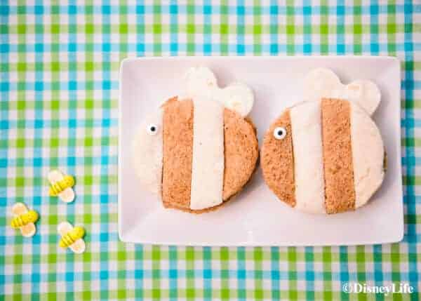 How to make a fun Winnie the Pooh themed picnic with DisneyLife - Cute bee themed sandwiches
