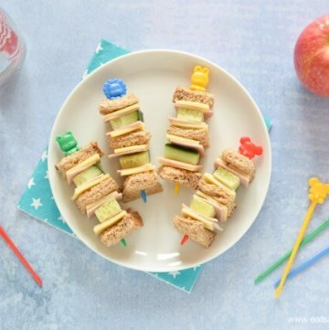 Quick and Easy Sandwich Kebabs - Fun Food for Kids - perfect for school lunch boxes bento boxes and party food too - Eats Amazing UK