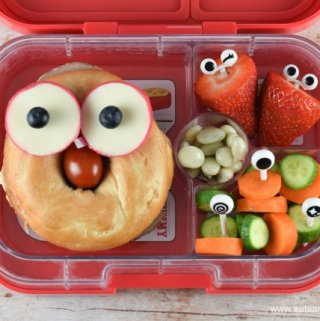 Quick & Easy Funny Face Bagel Packed Lunch Idea