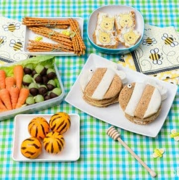 Winnie The Pooh Themed Picnic Recipes with 5 fun food ideas for kids - perfect for summer picnics and parties