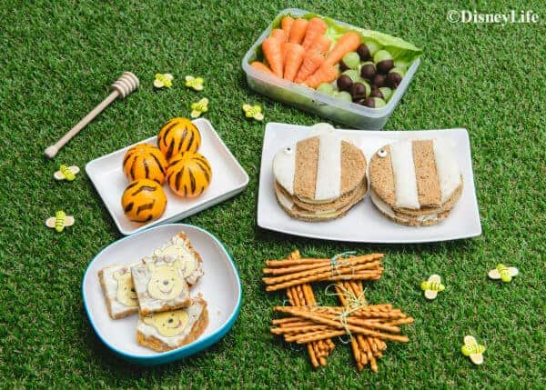 Winnie The Pooh Themed Picnic with 5 fun recipes - fun food for kids that is perfect for picnics and birthday parties