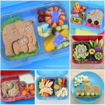 10 fun lunch box ideas for kids with fun lunchpunch sandwiches - perfec for bento boxes packed lunches and fun food at home - Eats Amazing UK