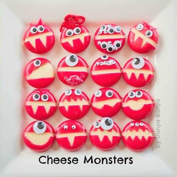 30 Healthy Halloween Party Food Ideas for Kids - Cheese Monsters from Danya Banya
