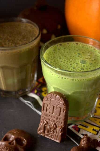 30 Healthy Halloween Party Food Ideas for Kids - Toxic Swamp Smoothie from Fuss Free Flavours