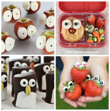 4 Easy Ways to Make Fun Food with Eyes!