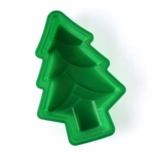 Christmas themed silicone cups and baking moulds from the Eats Amazing Bento UK Shop - perfect for festive fun food - Christmas tree inside