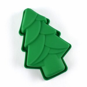 Christmas themed silicone cups and baking moulds from the Eats Amazing Bento UK Shop - perfect for festive fun food - Christmas tree outside