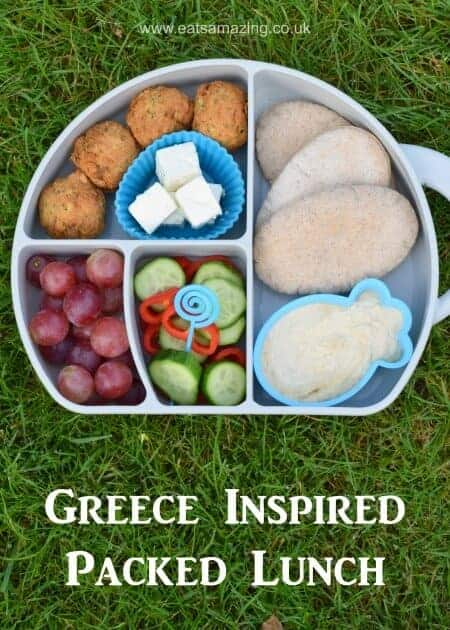 Easy and healthy packed lunch idea for kids inspired by Ancient Greece - fun bento box from Eats Amazing UK