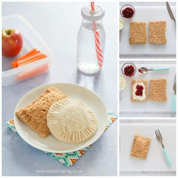Easy homemade uncrustables pocket sandwiches - fun food for kids - perfect for school lunch boxes and bento boxes - Eats Amazing UK