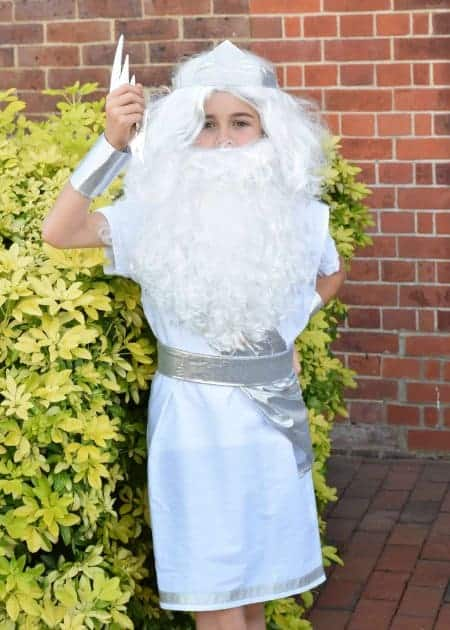Homemade Zeus Costume for Kids - Ancient Greece Day at School - Eats Amazing UK