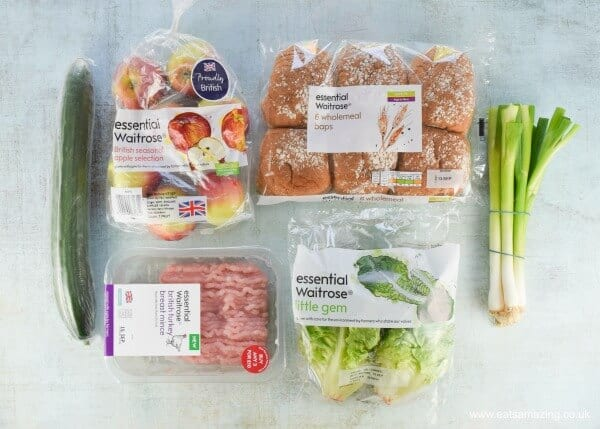 Homemade turkey burgers made with the essential Waitrose range of ingredients - Eats Amazing UK