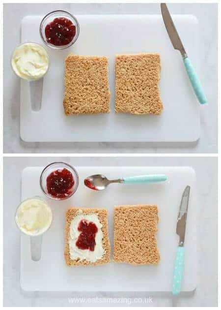 How to make homemade uncrustables pocket sandwiches for kids - fun healthy lunchbox food ideas from Eats Amazing UK - fun food for kids