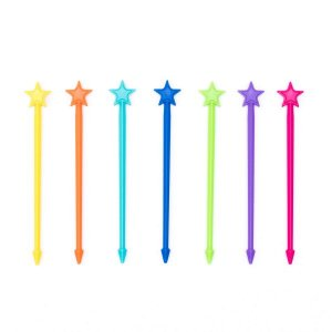 Lunch Punch Stix Set of 7 - fun plastic skewers - perfect for fruit kebabs sandwich kebabs and other fun food for kids - Eats Amazing UK Bento Shop