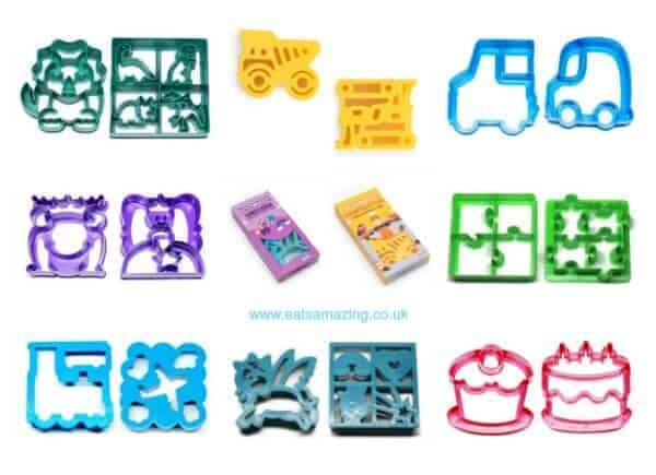 LunchPunch Sandwich Cutters UK from the Eats Amazing Bento Shop - Fun Food for Kids and perfect for lunch boxes