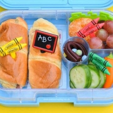 Quick and easy back to school lunch idea packed in the Yumbox - easy bento lunch idea from Eats Amazing UK