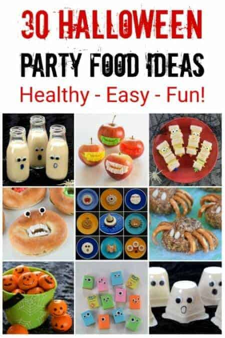 30 Healthy Halloween Party Food Recipes your kids will love - these fun Halloween food ideas are quick easy and perfect for a spooky spread #EatsAmazing #HalloweenFood #Halloween #Halloweenparty #partyfood #funfood #kidsfood #healthykids