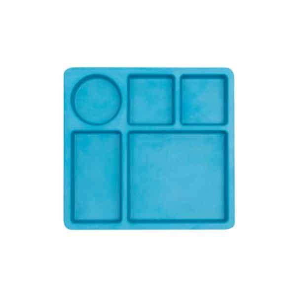 Bobo and Boo Bamboo Divided Plate for Kids - Eats Amazing UK Bento Shop - Dolphin Blue