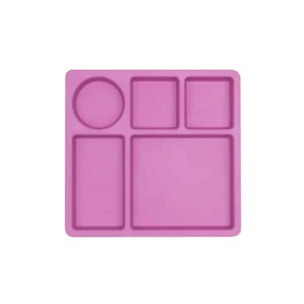 Bobo and Boo Bamboo Divided Plate for Kids - Eats Amazing UK Bento Shop - Flamingo Pink