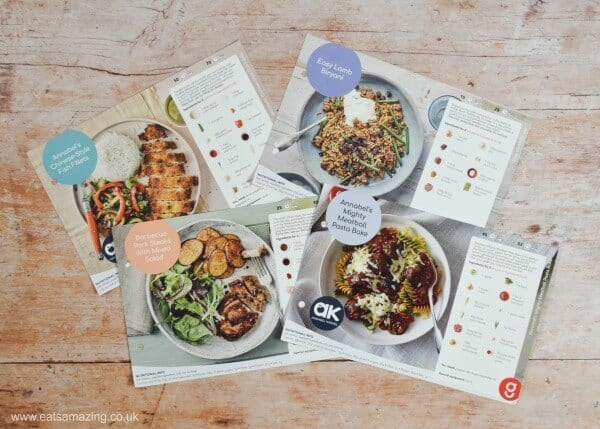 Gousto recipe cards - perfect for quick and easy family meals - Eats Amazing UK
