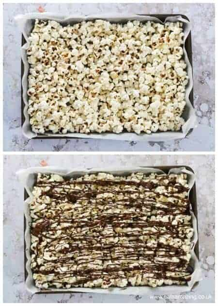 How to make Halloween popcorn - fun snack for a spooky movie night and Halloween party food too - Eats Amazing UK - Step 1