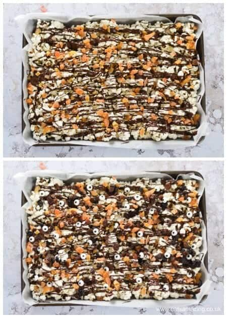 How to make Halloween popcorn - fun snack for a spooky movie night and Halloween party food too - Eats Amazing UK - Step 2