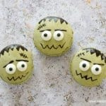 How to make cute and easy Macaron Franksteins - fun food tutorial from Eats Amazing UK - a great dessert for Halloween Parties