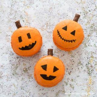 How to make Halloween Jack-O'-Lantern Macarons