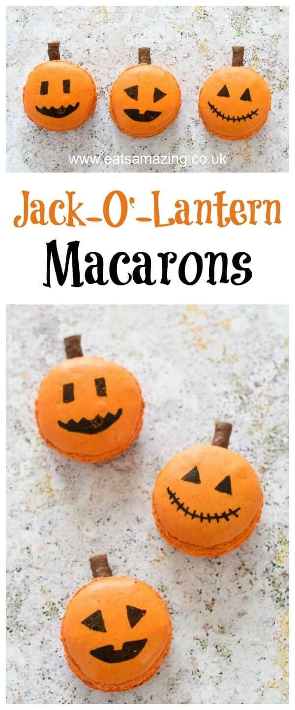 how to make halloween jack o u0027 lantern macarons eats amazing
