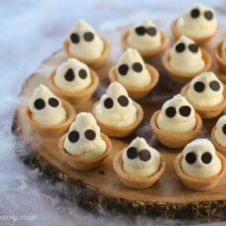 Ghostly Mini Cheesecake Bites Recipe