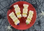 Quick and easy Mummy sandwich kebabs recipe - fun kids Halloween party food and great for school lunch boxes too - Eats Amazing UK
