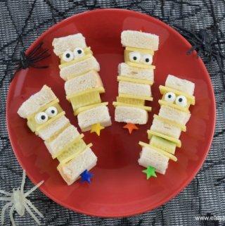 Mummy Sandwich Kebabs – Fun Halloween Food for Kids